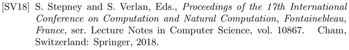 IEEEtranSA: example of a bibliography item for an proceedings entry
