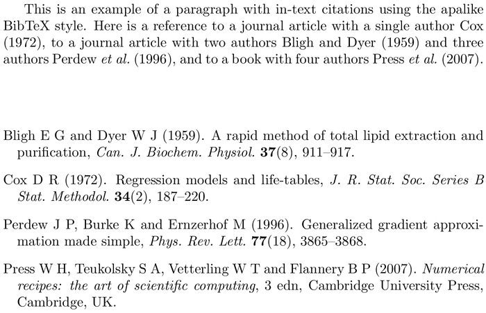 BibTeX adfathesis bibliography style example with in-text references and bibliography