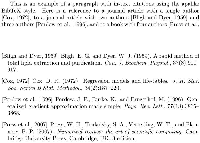 Bibtex Apalike Bibliography Style Examples Bibtex Com