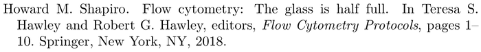 bestpapers: example of a bibliography item for an incollection entry