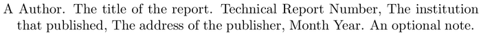 bestpapers: example of a bibliography item for an techreport entry