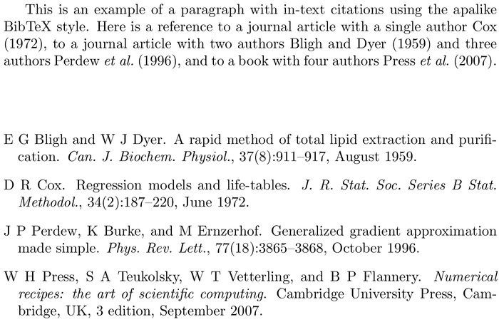 BibTeX aaai-named bibliography style example with in-text references and bibliography