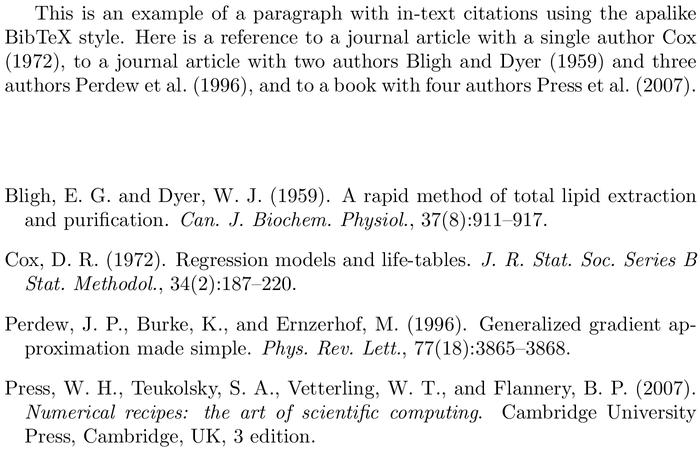 BibTeX apa bibliography style [examples] - BibTeX.com